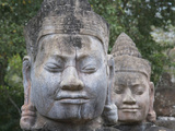 Buddhist Statues at the South Gate of Angkor Thom  Cambodia