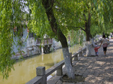 Traditional Houses Along the Grand Canal in the Water Town  Fengjing  Shanghai  China