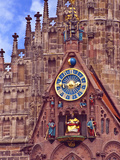 Clock Tower of Church of Our Lady  Nuremberg  Germany