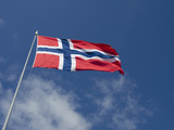 Norwegian Flag  Bergen  Norway