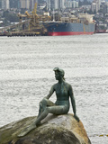 Girl in a Wetsuit Statue  Stanley Park  Vancouver  British Columbia  Canada