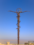 Cross at Moses Memorial Church  Mt Nebo  Overlooking Jordan Valley and Jericho Oasis  Amman  Jordan