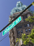 Sun Tower on Abbott Street in Chinatown  Vancouver  British Columbia  Canada