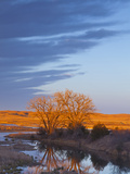 Bathed in Sunset Light the Calamus River in Loup County  Nebraska  USA