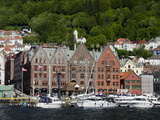 Downtown Hanseatic Historic Area  Bergen  Norway