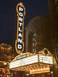 Illuminated Marquee of the Arlene Schnitzer Auditorium  Portland  Oregon  USA