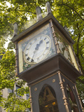 Steam Powered Clock in the Gastown Neighborhood  Vancouver  British Columbia  Canada