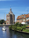 Drommedaris Tower Above Classic Dutch Vessels  Enkhuizen  Netherlands