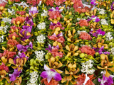 Flower Necklaces and Crowns at Papeete Market  Tahiti  French Polynesia