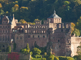 View of Heidelberg's Old Town and Heidelberg Castle from the Philosophenweg  Heidelberg  Germany
