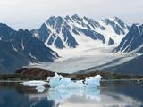 Receding Glacier  Liefderfjorden Fiord  Svalbard  Norway