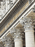 Architectural Detail of the Pantheon in the 5th Arrondissement  Paris  France