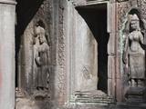 Buddhist Statues at Bayon Temple  Angkor Thom  Cambodia