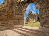 Ruins of Whitby Abbey Above Whitby on North Yorkshire Coast in Northern England  United Kingdom