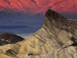 Manly Beacon at Dawn  Zabriskie Point  Death Valley National Park  California  USA