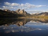 Stanley Lake and Mcgowan Peak  Sawtooth National Recreation Area  Idaho  USA