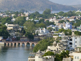 Cityscape of Lake and Architecture  Udaipur  Rajasthan  India