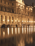 Reflecting Pool at the Louvre  Paris  France