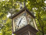 Steam Powered Clock in the Gastown Neighborhood  Vancouver  British Columbia  Canada