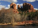 Cathedral Rock at Sunset  Red Rock Crossing  Sedona  Arizona  USA