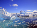 Icebergs and Ice Flows in the Artic Sea  Near Paradise Harbor  Antarctica