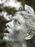 A Statue at Luxembourg Gardens  Paris  France