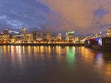 The Morrison Bridge over the Willamette River  Portland  Oregon  USA