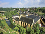 City View of St Johanneskirche and Abbey Neumuenster  Grund  Luxemburg  Luxembourg