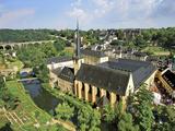 City View of St Johanneskirche and Abbey Neumuenster  Grund  Luxemburg  Luxembourg
