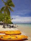 Kayaks and Beach  Shangri-La Fijian Resort  Yanuca Island  Coral Coast  Viti Levu  Fiji
