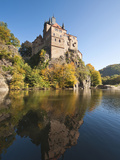 Kriebstein Castle and Zschopau River  Germany