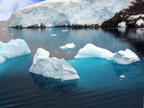 Icebergs Floating in the Sea  Paradise Bay  Antarctic Peninsula  Antarctica