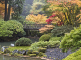 Moon Bridge  Portland Japanese Garden  Oregon  USA