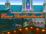 Christmas Market on the Town Hall Square  Vienna  Austria