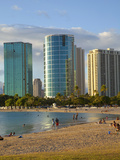 Ala Moana Beach Park  Waikiki  Honolulu  Oahu  Hawaii  USA