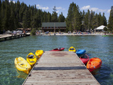 Redfish Lake Lodge  Redfish Lake  Sawtooth National Recreation Area  Idaho  USA