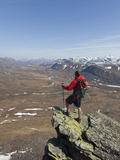 Hiker  Arctic National Park and Preserve  Alaska  USA