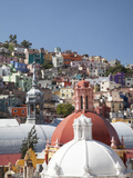 Church Cupolas and Houses  Guanajuato  Mexico