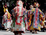 Buddhist Monks Dancing  Chemrey Monastery  Ladakh  India
