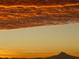 Dawn Sky over Mt Hood  Oregon  USA