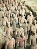 Qin Shi Huang Di Mausoleum with Terracotta Warriors  Xi'An  China