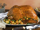Roast Turkey with Potatoes and Chestnuts