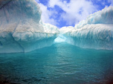 Iceberg with Fluted and Honeycomb Textures  Gibbs Island  Weddell Sea  Antarctica  Polar Regions
