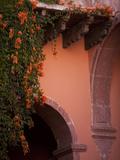 Stone Arch in Courtyard  San Miguel De Allende  Mexico