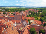 Rooftop View  Rothenburg Ob Der Tauber  Germany
