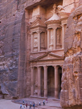 Facade of Treasury (Al Khazneh)  Petra  Jordan