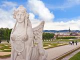 The Formal Gardens of Schloss Schonbrunn Palace Overlooking the City of Vienna  Wein  Austria
