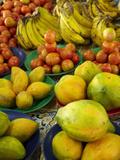 Pawpaw/Papaya  Tomatoes and Bananas  Sigatoka Produce Market  Coral Coast  Viti Levu  Fiji