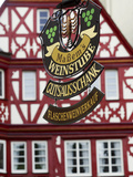 A Traditional Sign for a Wine Tavern or Bar in Bernkastel-Kues  Germany