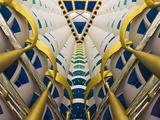 Architectural Details Inside Burj Al Arab Hotel  Dubai  United Arab Emirates